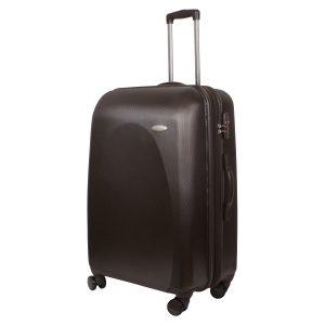 Большой чемодан Galaxy коричневый