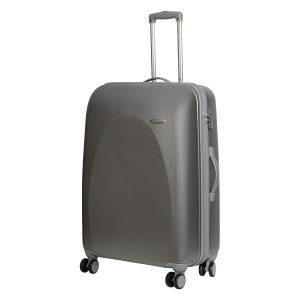 Большой чемодан Galaxy серебро